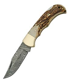 Damascus Lockback Stag