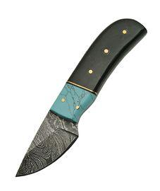 Damascus Skinner Horn Turquoise