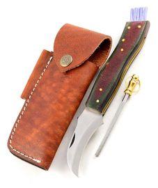 Exkluzívny hubársky nôž micarta bicolor black ručne robený