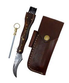 Hubársky nôž damaškový ručne robený