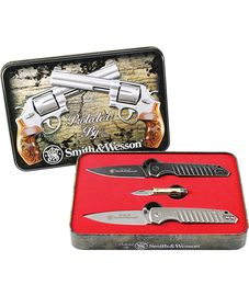 Smith & Wesson 3 Pc Knife Set with Gift Tin