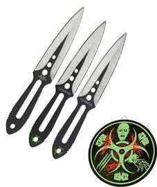 Z-Hunter Three Piece Thowing Knife Set.