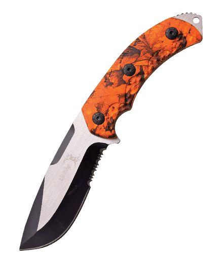 Elk Ridge Fixed Blade Hunter Orange Camo ER537OC