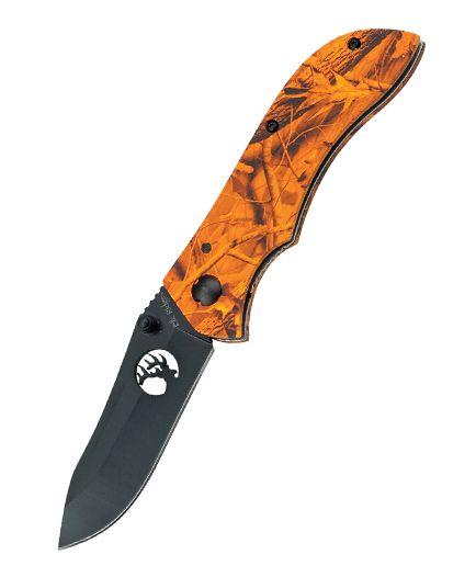 Elk Ridge Linerlock Orange Camo ER015OC