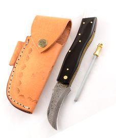 Exkluzívny hubársky nôž damaškový s byvolím rohom ručne robený