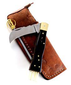 Exkluzívny hubársky nôž s byvolím rohom ručne robený