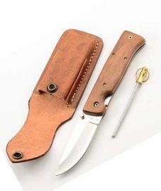 Výhodny set nôž 6335LW + Kožené puzdro + Vrecková ocieľka